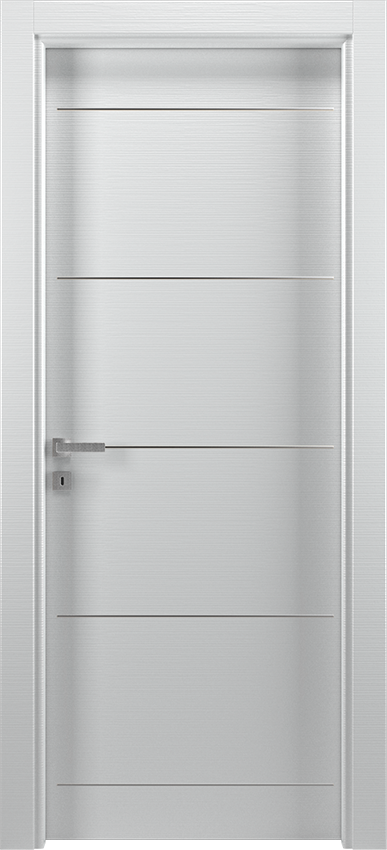 Interior swinging door BRIO 1L5F, Xonda - White lined - Gidea