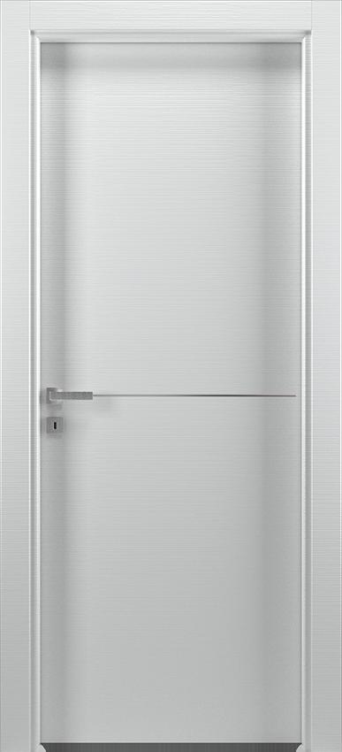 Porte intérieure battante BRIO 1L1F, Xonda - Blanc raye - Gidea