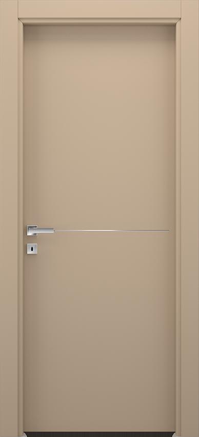 Porte intérieure battante BRIO 1L1F, Xonda - Tourterelle - Gidea