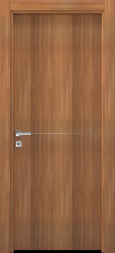 Porte intérieure battante BRIO 1L1F, Xonda - Noyer blond - Gidea