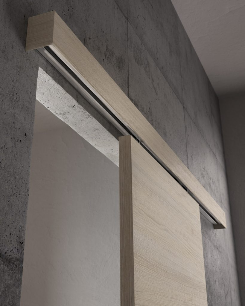 Porta scorrevole esterno muro a mantovana