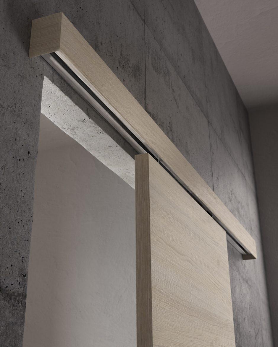Porta scorrevole esterno muro a mantovana - Garofoli