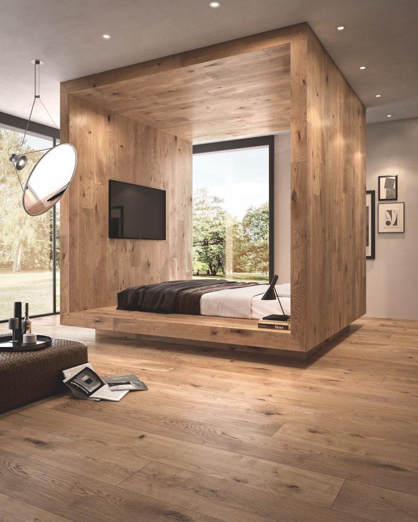 parquet rovere seta per camera da letto
