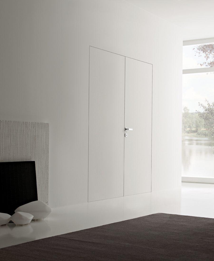 Porte Filo Muro Specchio porte filo muro personalizzabili: legno, laminato, vetro