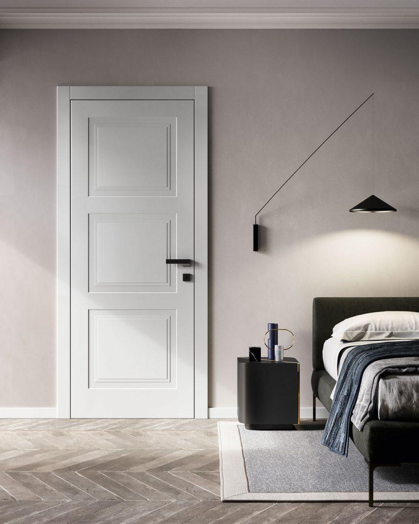 Porta laccata bianca stile classico Garofoli