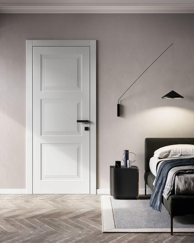 Porta laccata bianca stile classico Garofoli - Garofoli