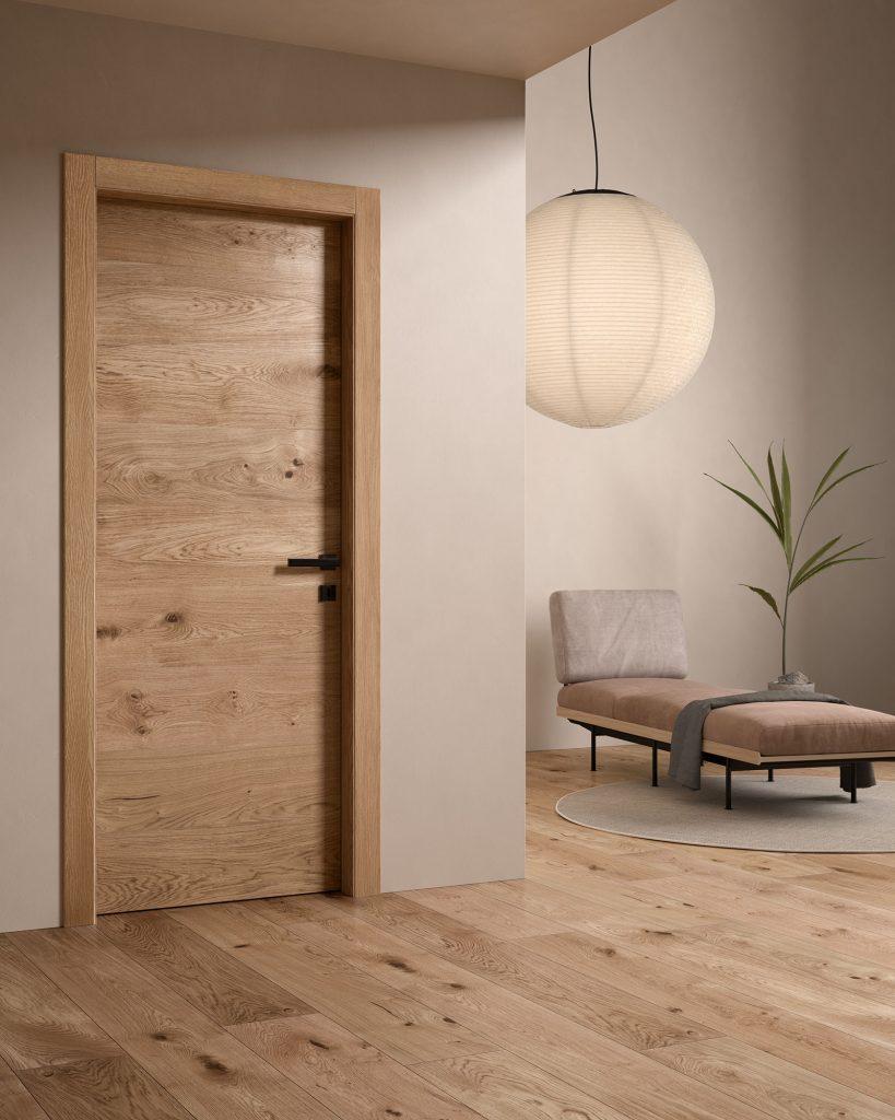 Porta moderna con legno vintage