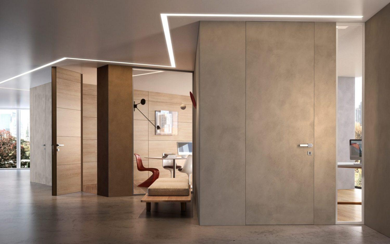 Porte Filo Muro Specchio flush-wall doors | garofoli