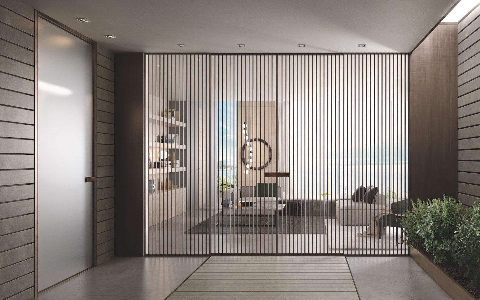 Cucina Con Vetrata Scorrevole porte in vetro scorrevoli per case moderne ed eleganti