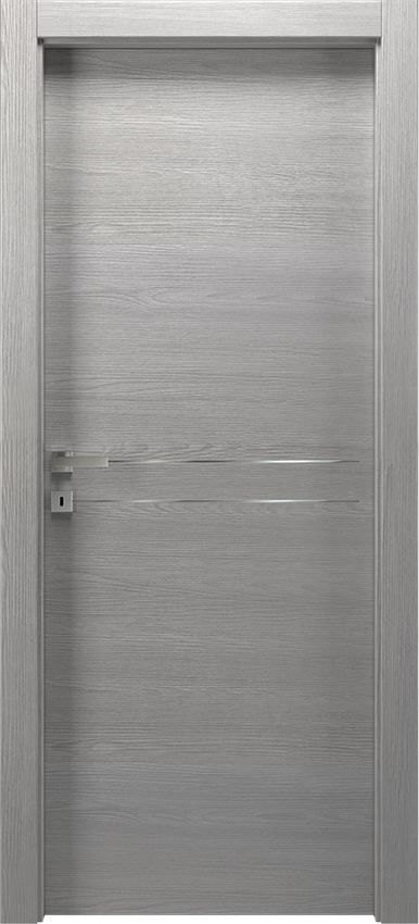 Interior swinging door MIL 1L2F        PORTA BATT.SING. T.YY19, No Limits - Grey elm - Gidea