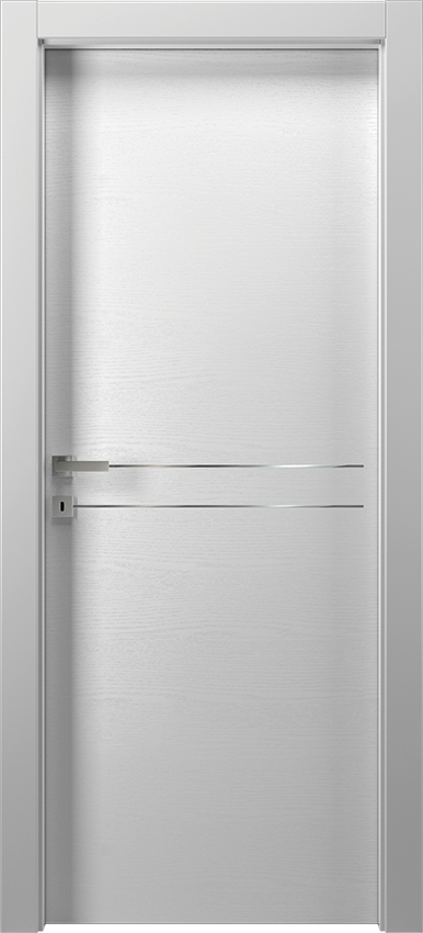 Interior swinging door MIL 1L2F        PORTA BATT.SING. T.YY19, No Limits - White ash - Gidea