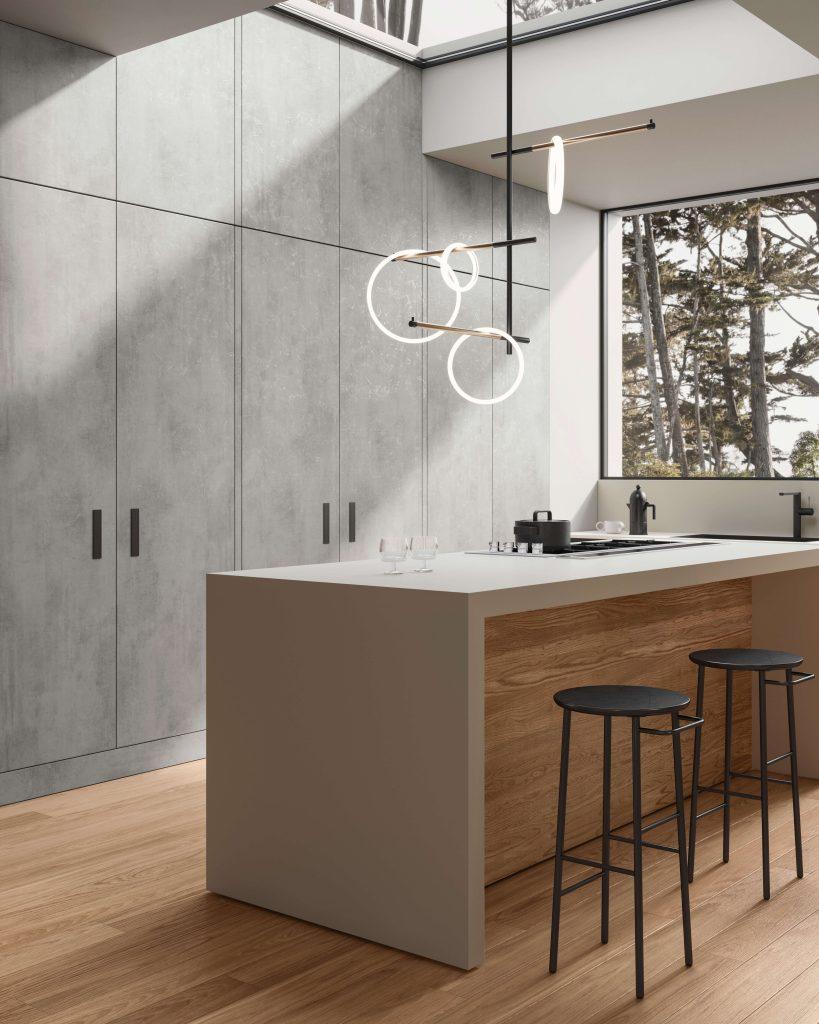 parquet per cucina moderna Garofoli Platinum in Rovere Seta