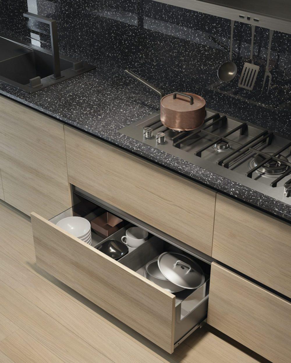 Mobili contenitori in legno Garofoli per un ambiente cucina moderno - Garofoli