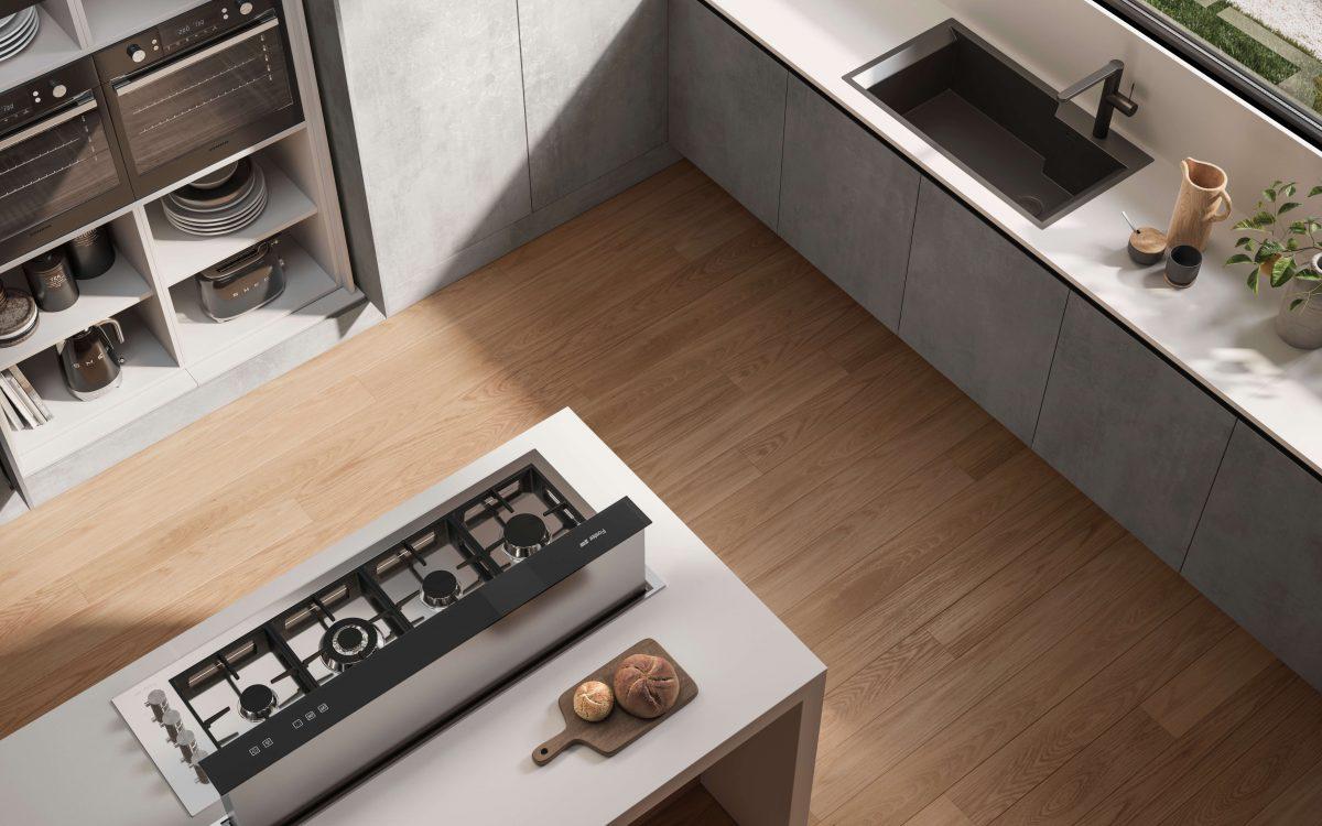 Parquet per cucina moderna Garofoli Platinum in Rovere Seta - Garofoli