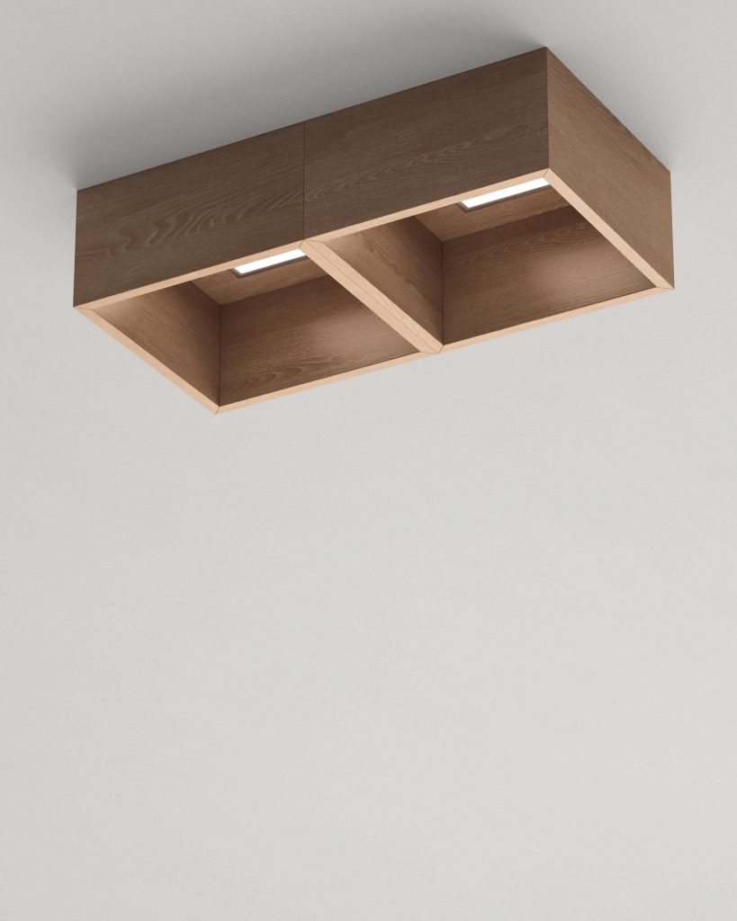 lampada a muro doppia Garofoli in legno