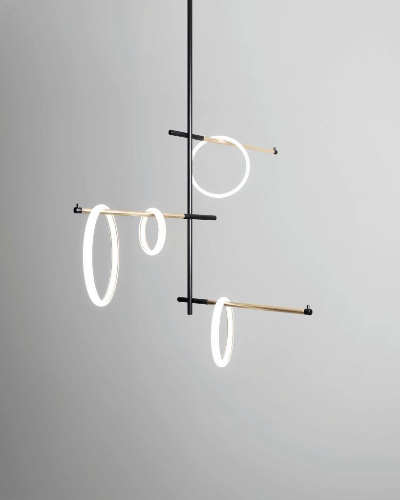 lampada tre braccia Garofoli di design