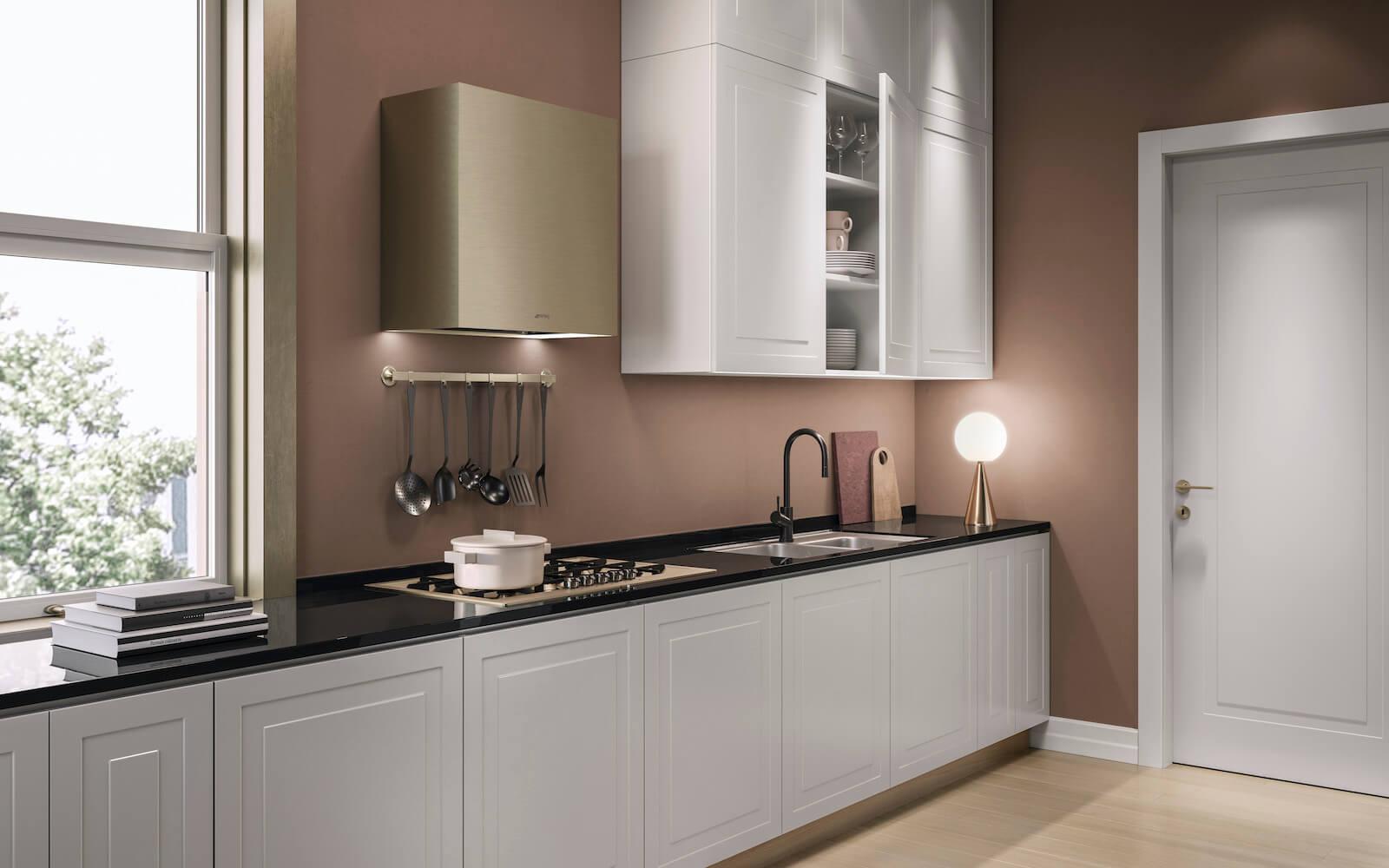 Porta cucina classica finitura laccato bianco Garofoli Miuno 1B Milia - Garofoli