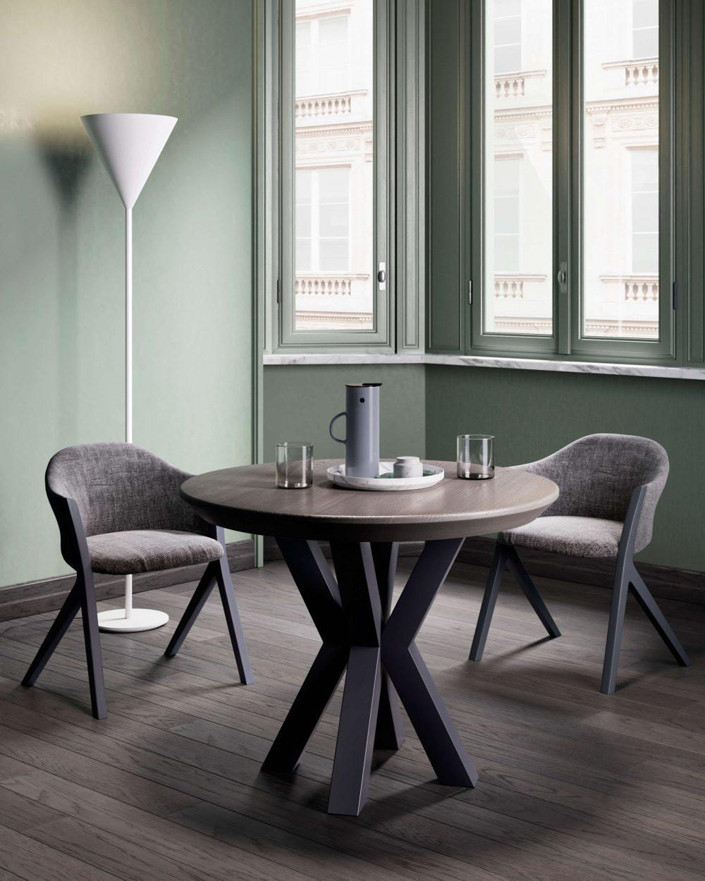 Tavolo rotondo moderno Garofoli Round Rovere Pietra - Garofoli