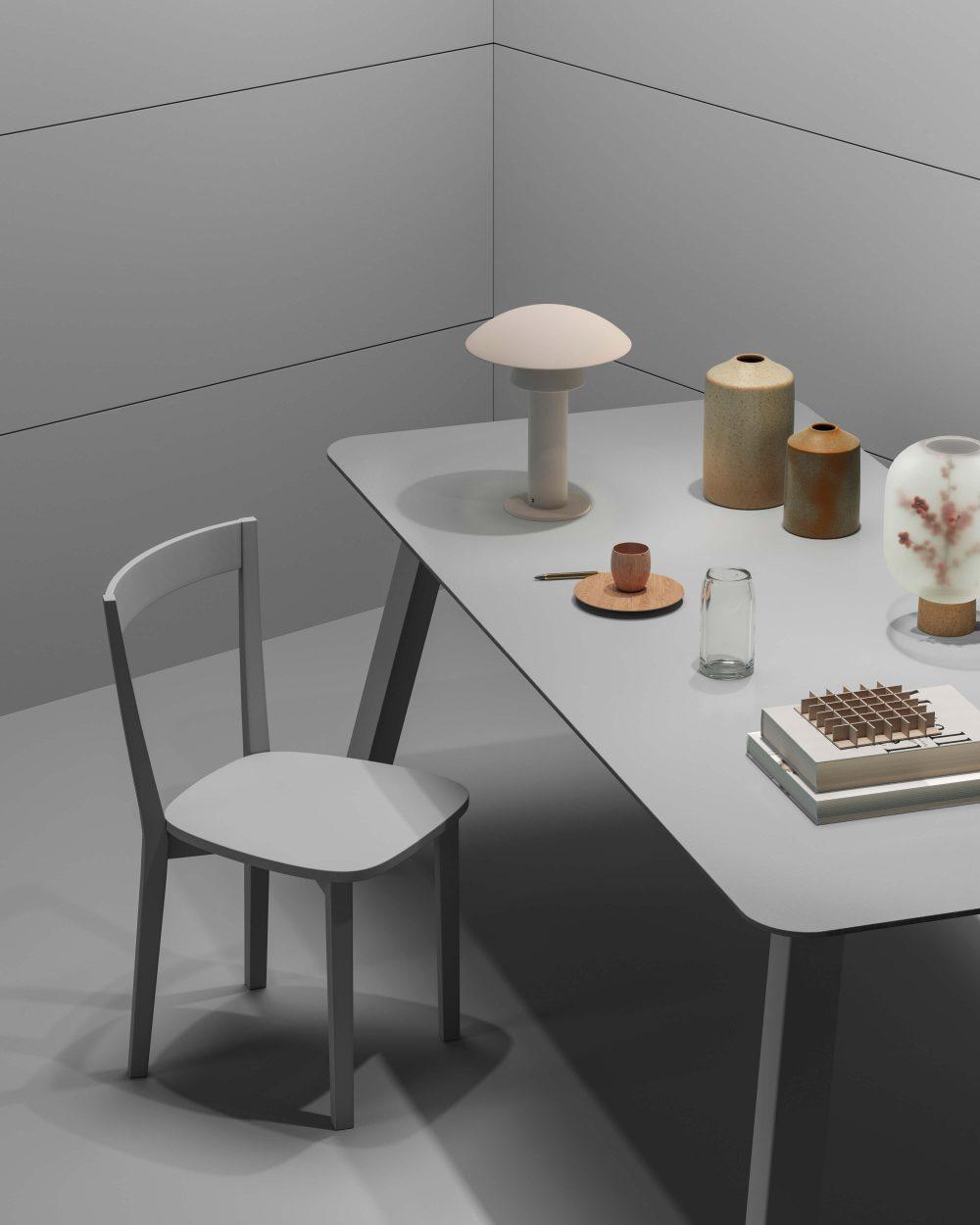 Tavolo e sedia Titti eleganti e minimal Garofoli - Garofoli
