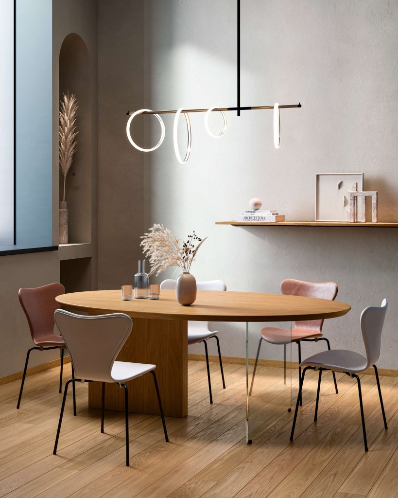 tavolo in rovere naturale Garofoli Ellisse