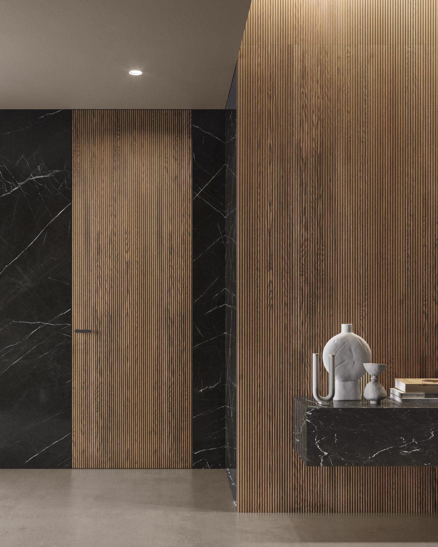 Boiserie effetto marmo e bosierie onda effetto 3d garofoli - Garofoli