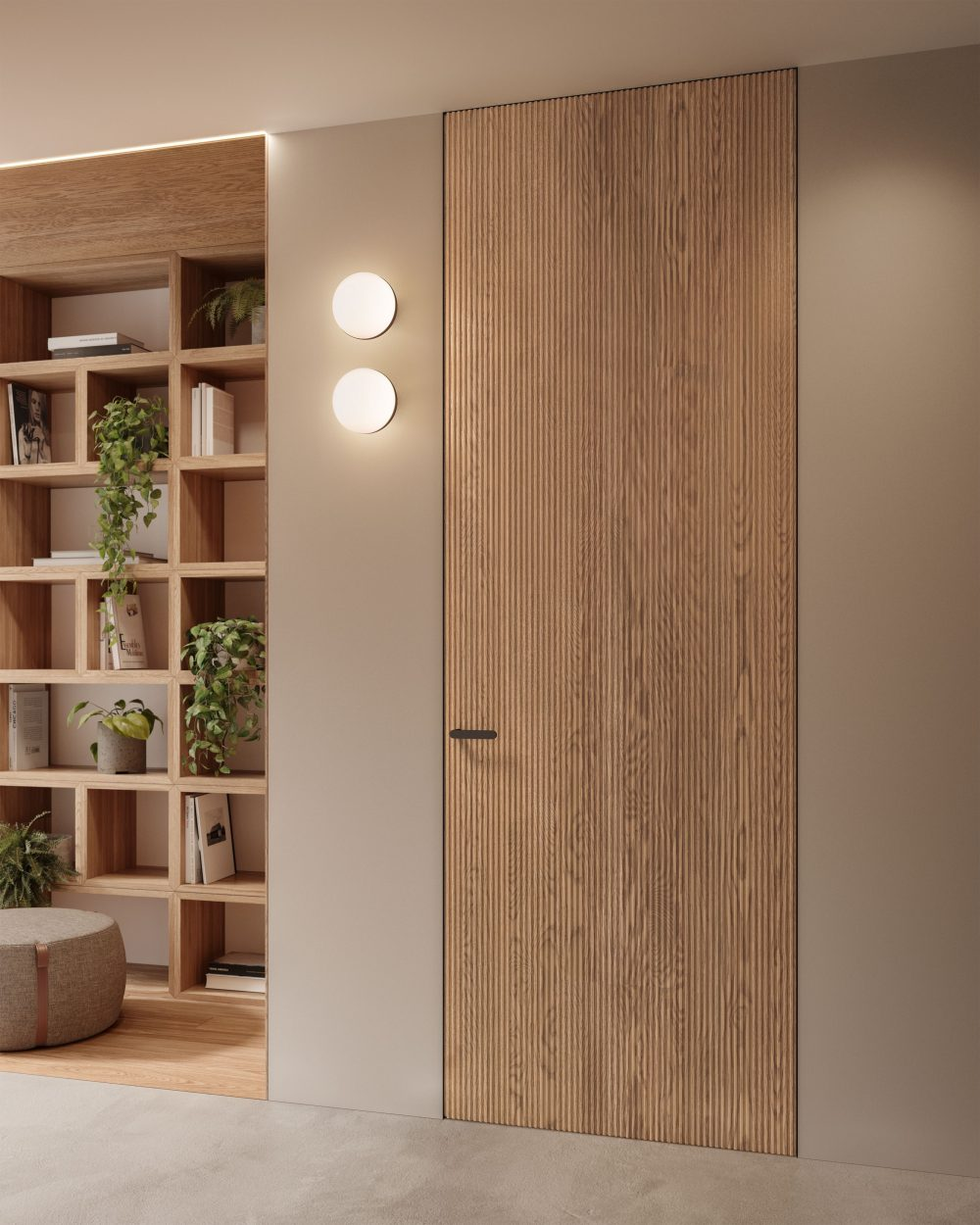 Porta filomuro in legno massiccio quadra garofoli - Garofoli