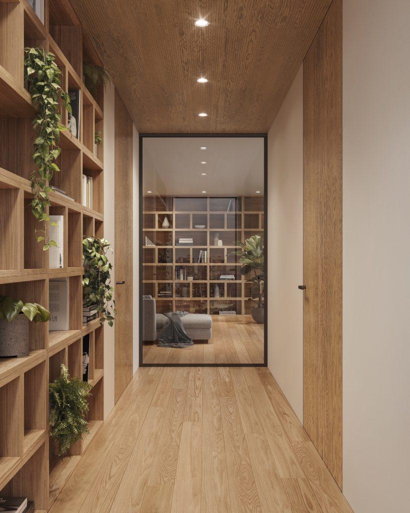 Boiserie in legno massiccio di design Garofoli